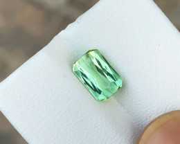 1.75 Ct Natural Greenish Transparent Tourmaline Top Quality Gemstone