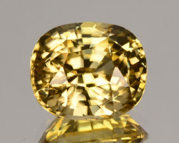 ~RAREST~ 3.62 Cts Natural Sparkling Golden Yellow Zircon Oval Cut SriLanka