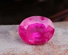 5.50 Ct Natural Pinkish Rubellite Transparent Tourmaline Gemstone