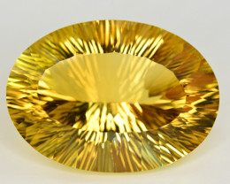 Laser Cut 70.40 Ct Gorgeous Color Natural Citrine