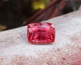 3.85 Ct Natural Rubellite Transparent Tourmaline Gemstone