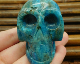Blue apatite carved skull decoration (G0947)