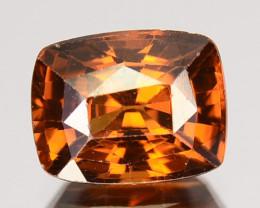 2.31 Cts Natural Golden Orange Zircon Cushion Cut Tanzania