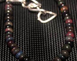 28 Crts Natural Welo Smoked Opal Beads Bracelet 631