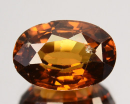 3.29 Cts Natural Golden Orange Zircon Oval Cut Tanzania
