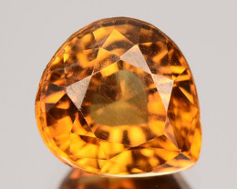2.46 Cts Natural Golden Orange Zircon Pear Cut Tanzania