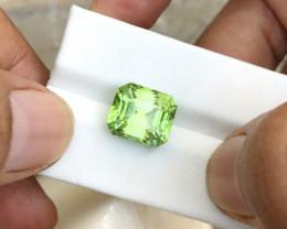 8.80 Ct Natural Apple Green Color Transparent Tourmaline Gemstone