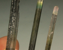 Wow Very Beautiful Bi color Tourmaline Crystal Lot Collector's Gem
