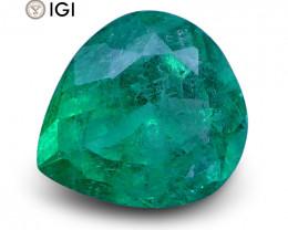1.01 ct Pear Emerald IGI Certified