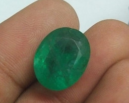 IGI Certified 11.56cts Colombian Emerald , 100% Natural Gemstone