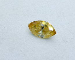 0.19ct  Fancy Intense brownish Green Yellow Diamond , 100% Natural Untreate