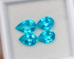 3.14ct Paraiba Color Topaz Pear Cut Lot D271