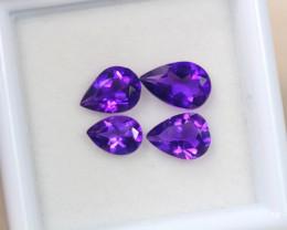 2.05ct Purple Amethyst Pear Cut Lot V4918
