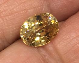 3.80 Carat VS Zircon Golden Peach Color Flash Unheated Tanzania Rare !
