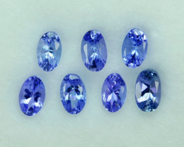 2.03 Cts Natural Purple Blue Tanzanite Oval Calibrated Parcel