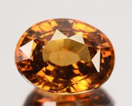 3.70 Cts Natural Golden Orange Zircon Oval Cut Tanzania