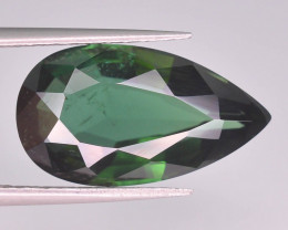 Stunning color 7.20 ct Natural Green Color Tourmaline ~ T