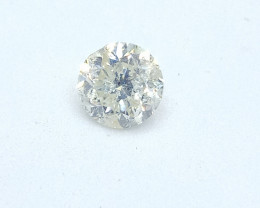 0.525ct Tinted White Diamond , 100% Natural Untreated