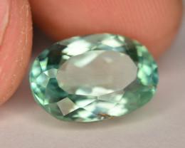 6.15 Ct Green Spodumene Gemstone From Afghanistan~ G AQ