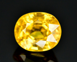 3.10 Ct Gorgeous Color Natural Yellow Zircon