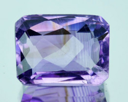 ~LOVELY~ 8.16 Cts Natural Purple Amethyst Octagon Checkerboard Cut Bolivia