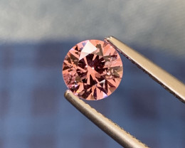 Natural Pink Spinel From Tajikistan 1.12 Carats Round Brilliant