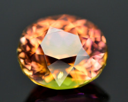 Incredible Color 5.95 Ct Bi Color Watermelon Tourmaline From Afghanistan