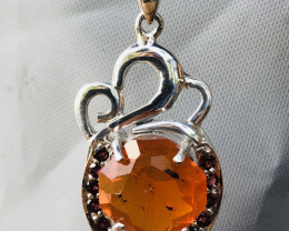RED FIRE OPAL Beautiful pendant, handmade in Germany