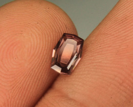 Wow Very Unique Cut Rare Pink Zircon Gemstone From Aus