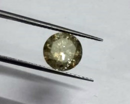 Certified 1.63ct  Fancy Greenish Brown  Diamond , 100% Natural Untreated