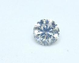 0.52ct  White Diamond , 100% Natural Untreated