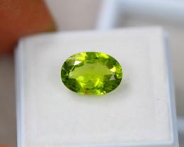 3.70ct Green Peridot Oval Cut Lot GW4391
