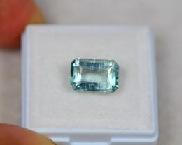 2.98ct Blue Aquamarine Octagon Cut Lot GW4392