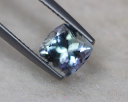 1.68ct Natural Greenish Violet Blue Tanzanite Cushion Cut Lot D239