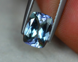 1.66ct Natural Greenish Violet Blue Tanzanite Cushion Cut Lot D240