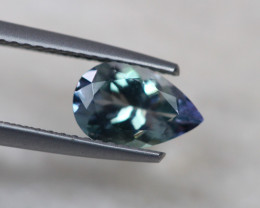 1.31ct Natural Greenish Violet Blue Tanzanite Pear Cut Lot D241