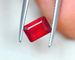 1.57ct Blood Red Color Ruby Octagon Cut Lot GW4525