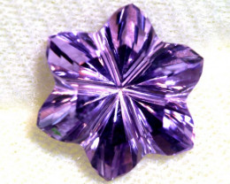 8.75 CTS AMETHYST FLOWER CARVING CG-2692