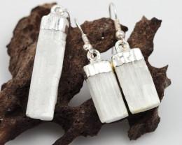 Spiritual Selenite 3 pc set Earrings & Pendant BR 151