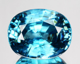 ~DAZZILING~ 9.48 Cts Natural Blue Zircon Cambodia Gem