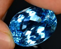 Stunning 60 Ct Natural Blue Topaz Gemstone