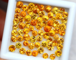 7.69cts Natural Yellow Colour Sapphire lots / HJ414