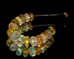 3.25 Crts Natural Ethiopian Welo Opal Beads Demi Strand 6