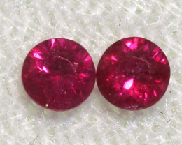 0.35 CTS   NATURAL RUBY FACETED STONE PAIR CG-2696