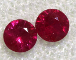 0.29 CTS   NATURAL RUBY FACETED STONE PAIR CG-2697