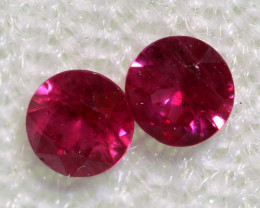 0.30 CTS   NATURAL RUBY FACETED STONE PAIR CG-2698