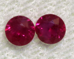 0.34 CTS   NATURAL RUBY FACETED STONE PAIR CG-2700