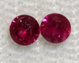0.23 CTS   NATURAL RUBY FACETED STONE PAIR CG-2701