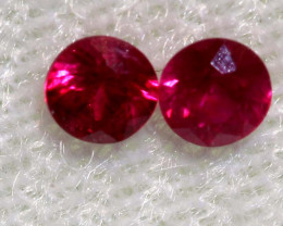 0.33 CTS   NATURAL RUBY FACETED STONE PAIR CG-2703