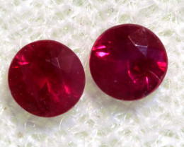 0.30 CTS   NATURAL RUBY FACETED STONE PAIR CG-2704